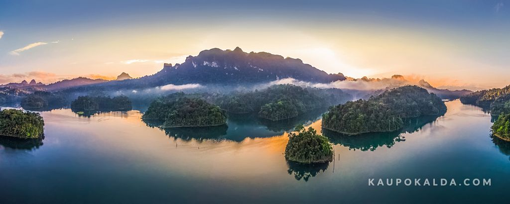 Sunrise at  Cheow Lan Lake, Thailand